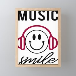 Awesome Music Lover Smiley DJ Face Awesome Framed Mini Art Print