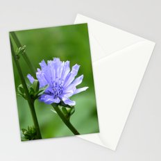 Nature's Garden Purple And Green Stationery Cards