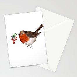 Robin bird art Stationery Cards