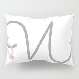 W Initial with Stitch Marker Pillow Sham