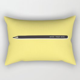 Make your mark pencil Rectangular Pillow