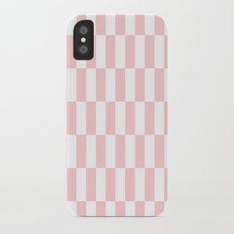 Pink Blocks pattern iPhone Case
