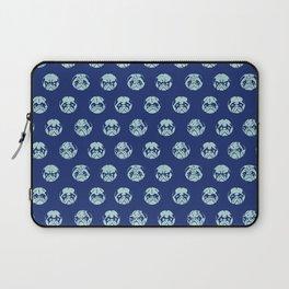 Polka Dot Pug Laptop Sleeve