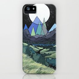 Full Moon Mountains iPhone Case