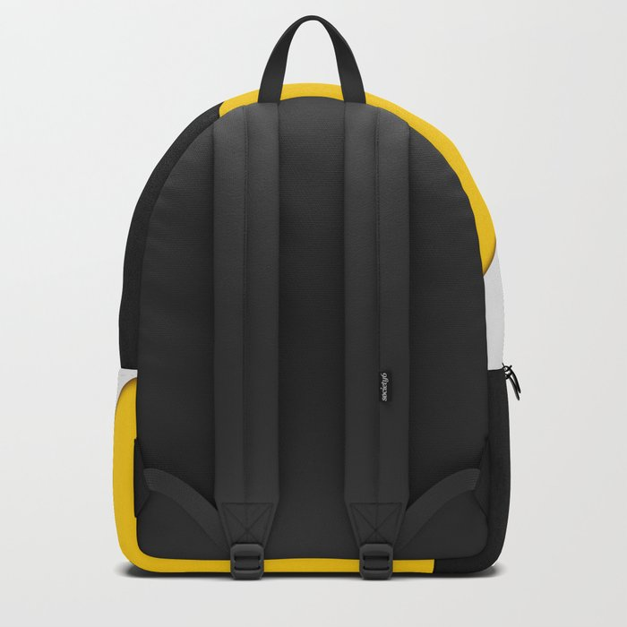 Simple Modern Gray Yellow and Black Geometric Rucksack