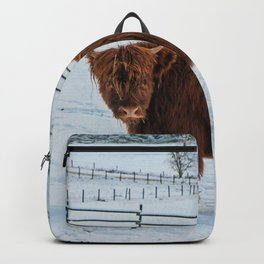 Are you looking at me, Scotish Highland Cow Backpack