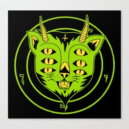 6xEyes Satanic Cat Canvas Print