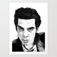 "nick cave Art Prints featuring ""Nick Cave"" by Jocke Hegsund"