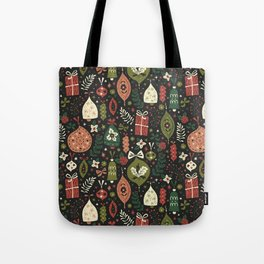 Holiday Ornaments Tote Bag