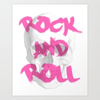 rock and roll Art Prints featuring Rock & Roll  by Pretty Little Things