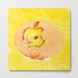 Swirly Springchicken Metal Print
