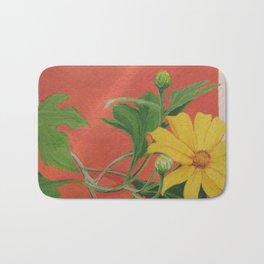 Winter blooming sun flower Bath Mat