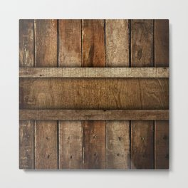 wooden box Metal Print