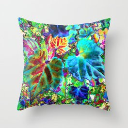 Inverted/ Solarized Abstract 1 Throw Pillow