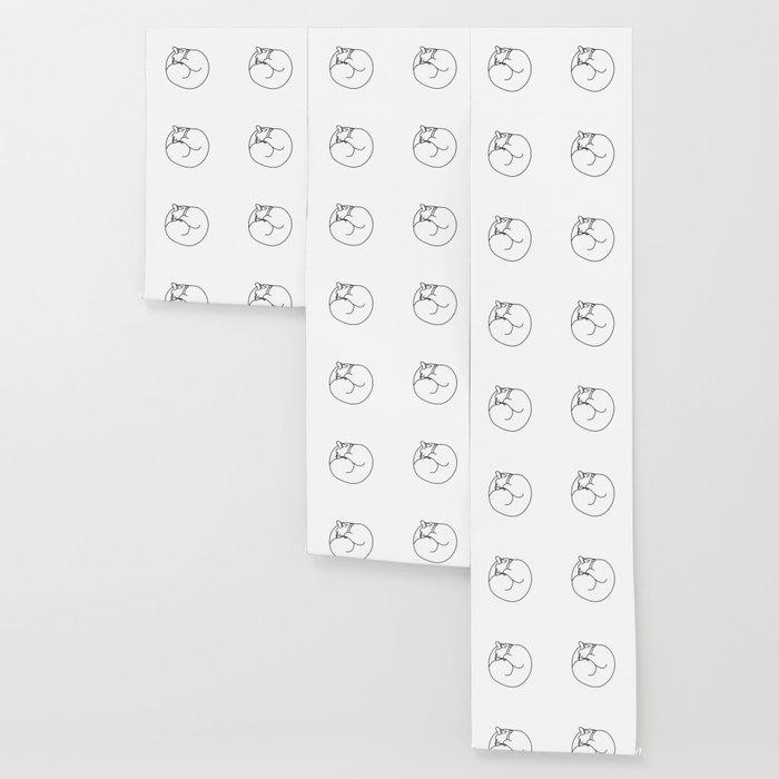Sleeping Cat Wallpaper By Bitart Society6