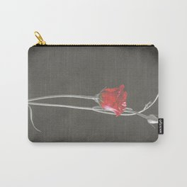 Red Lisianthus on Black  Carry-All Pouch