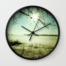 Snow covered Lake 2 Wall Clock