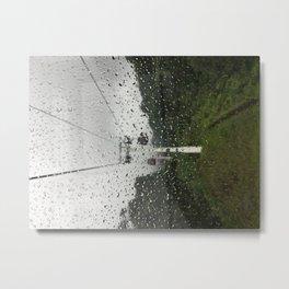 Raindrops on window Metal Print