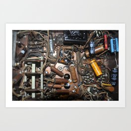 c1940's Stromberg-Carson Tube Radio Chassis Under Belly Art Print