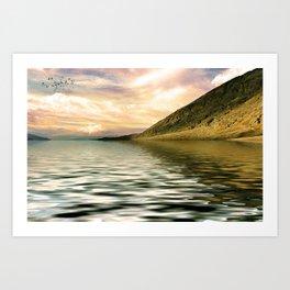 mountain lake 4 Art Print