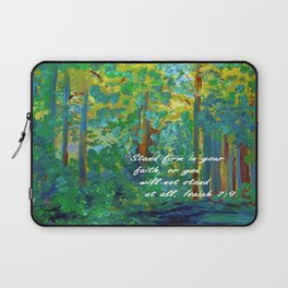 Stand Firm in Your Faith Laptop Sleeve