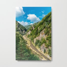 Carpathian Mountains View On Transfagarasan Road In Romania, Summer Landscape, Transylvania Mountain Metal Print