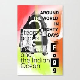 Around the world in eighty days - gra vers Canvas Print