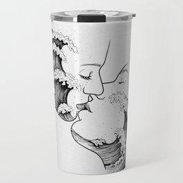 wavy kiss. Travel Mug