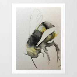 Buzzy Little Bee Art Print
