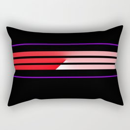 Team Colors 5...Red,purple Rectangular Pillow