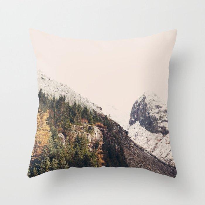 Winter Mountain Morning Throw Pillow