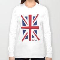 union jack Long Sleeve T-shirts featuring Union Jack Flag by Tonio YUMUI