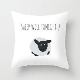 Sheep Well Tonight Throw Pillow