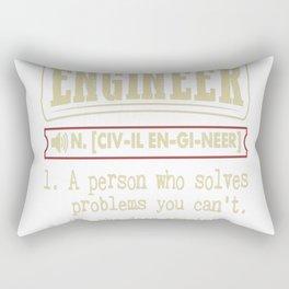 Civil Engineer Funny Dictionary Term Rectangular Pillow