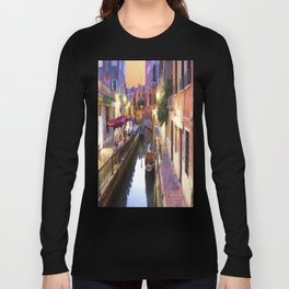 Sunset Alley In Venice Italy Long Sleeve T-shirt