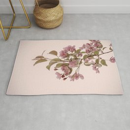 Crabapple Flowers On Peach Rug