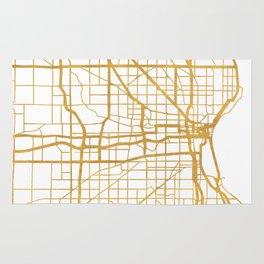 MILWAUKEE WISCONSIN CITY STREET MAP ART Rug