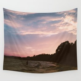 pink clouds at sunset Wall Tapestry