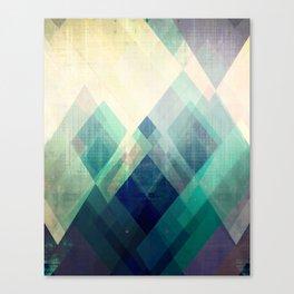 Mountains print, Abstract print, geometric wall art, abstract mountain, minimalist art, modern art, Canvas Print