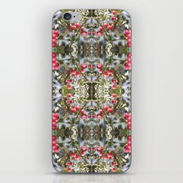 Very Berry Holly Christmas Multi Fractal from Photo 804 iPhone Skin