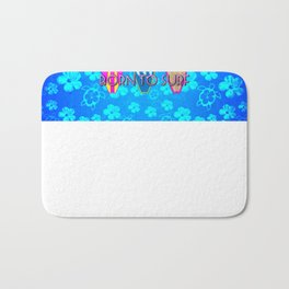 Born To Surf Blue Honu Bath Mat