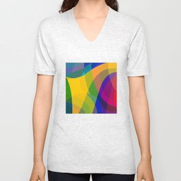 Color touch Unisex V-Neck