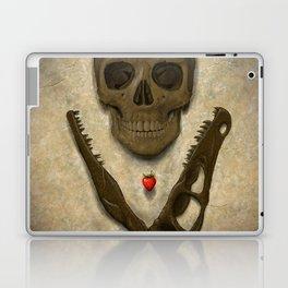 Impermanence - Velociraptor and Human Skull Laptop & iPad Skin