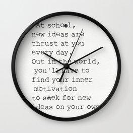Bill Watterson quote Wall Clock