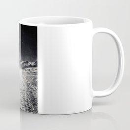 B&W Snow Background Coffee Mug