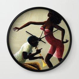 "African American Masterpiece ""La Hot Horn"" by O. Bulman Wall Clock"