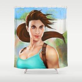 20 Years of Tomb Raider Shower Curtain