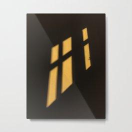 Window shadows in the dark Metal Print