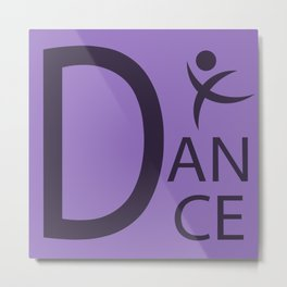 Purple Dance Symbol Metal Print