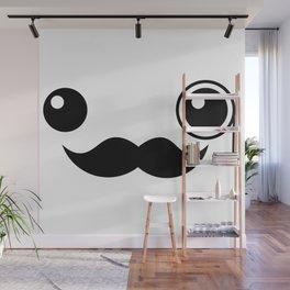 Cute Mr. Important Face Wall Mural